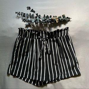 Bluenotes / Striped Paper Bag Shorts
